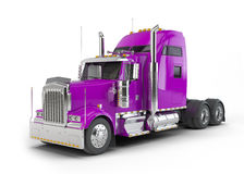 Purple american truck Stock Image