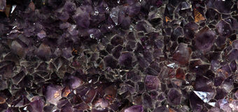 The purple amethyst background Stock Photography