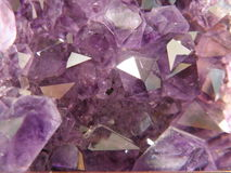 Purple Amethyst Stock Photo