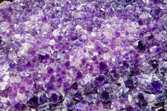 Purple Amethyst Cluster Background Stock Photos