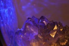Purple Amethyst Crystal. Beautiful purple Amethyst crystal specimen shot using beautiful lighting royalty free stock photography
