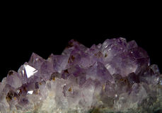 Purple amethyst over black Stock Photography