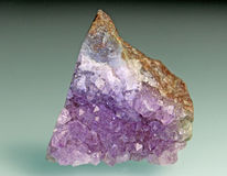 Purple amethyst stone Stock Image