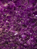 Purple amethyst stones Stock Image