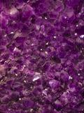 Purple amethyst stones Stock Image