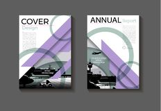 Free Purple And Green Cover Abstract Layout Background Design Modern, Book Brochure Template,annual Report Magazine And Flyer Layout Stock Photos - 155837033