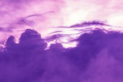 Free Purple And White Cloudscape Is Out Of This World Royalty Free Stock Photo - 190803785