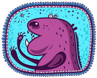 Purple animal and star Royalty Free Stock Photography