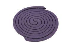 Purple anti mosquito smoke spiral Royalty Free Stock Images