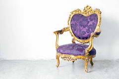 Purple Armchair Stock Photography