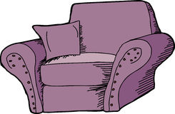 Purple Armchair Stock Photos