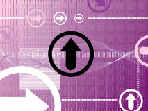 Purple arrow Stock Photo