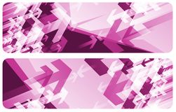 Purple Arrow Banners Royalty Free Stock Image