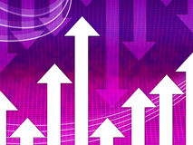 Purple Arrows Background Means Curves And Direction Royalty Free Stock Images
