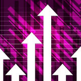 Purple Arrows Show Upwards Increase And Growth Royalty Free Stock Image