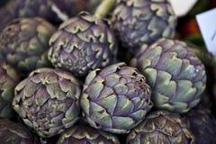 Purple Artichokes Stock Photos