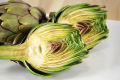 Purple artichokes Royalty Free Stock Images