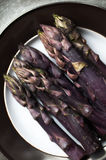 Purple Asparagus Royalty Free Stock Images