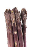 Purple Asparagus Spears Vertical. Bunch of fresh purple asparagus spears standing vertical Stock Photos
