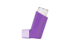 Purple Asthma inhaler Royalty Free Stock Photography