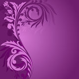 Purple asymmetrical ornament Stock Images