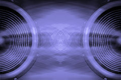 Purple audio speakers music background Royalty Free Stock Photos
