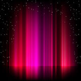 Purple aurora borealis background. EPS 8 Stock Photos