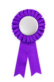 Purple award ribbons badge Stock Photos