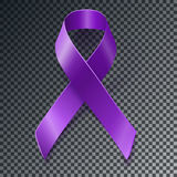 Purple awareness ribbon over geometric background Stock Photo