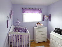 Purple Babies Room Royalty Free Stock Photography