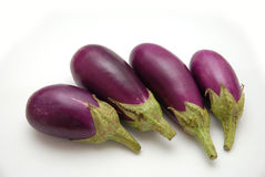 Purple Baby Eggplants Stock Photography