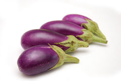Purple Baby Eggplants Royalty Free Stock Images
