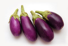 Purple Baby Eggplants Stock Photo