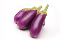 Purple Baby Eggplants Royalty Free Stock Image