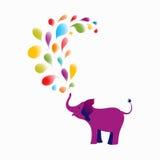 Purple baby elephant Stock Photo