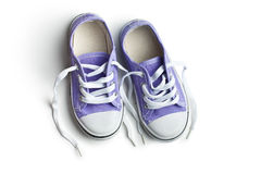 Purple baby sneakers Royalty Free Stock Photo