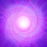 Purple background. With round object in the middle royalty free illustration
