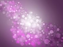 Purple background. Abstract purple background with bokeh circles Stock Photos