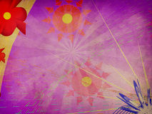 Purple background with abstract flowers Royalty Free Stock Images