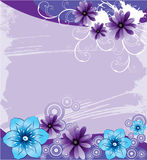 Purple background with abstract flowers. Purple grunge background with abstract flowers, vector, illustration Royalty Free Stock Images