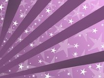 Purple background. Abstract purple background with stripes and stars Stock Photo
