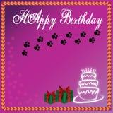 Purple background birthday cake and wedding cake. Beautiful purple birthday and wedding cake background Royalty Free Stock Photography
