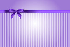 Purple background with bow Stock Photo