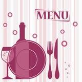 Purple background for cafe menu design Stock Photos