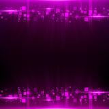 Purple background with cubes, particles Royalty Free Stock Photo