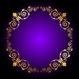 Purple background with floral decoration Stock Image