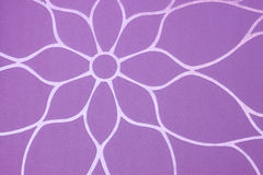 Purple background with floral pattern Stock Photos