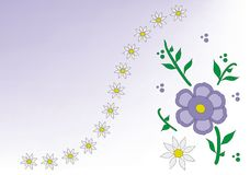 Purple Background Flower Stock Photo