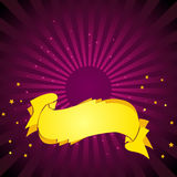 Purple Background. Gold Baner. Deep Purple Background. Gold Banner. Vector Illustration. No Meshes Stock Photography