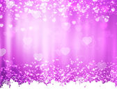 Purple background with hearts and lights Royalty Free Stock Photo